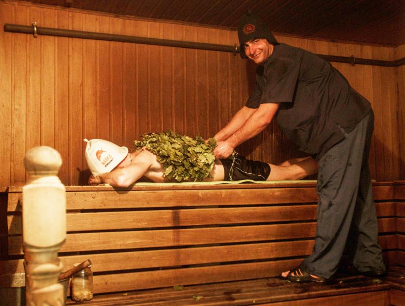 парильщик банного комплекса «Ильинские Бани»